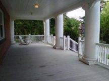 The veranda I hide away on to read and write